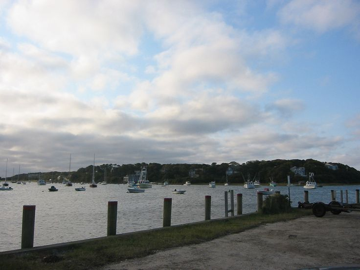Stage Harbor, Chatham, MA. Note the old Coast Guard boat house in background.