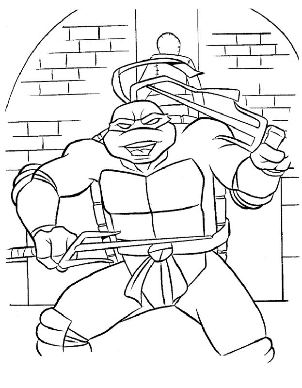 Teenage Mutant Ninja Turtles Coloring Pages 71