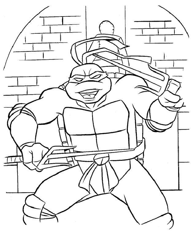 Teenage Mutant Ninja Turtles Coloring Pages 71