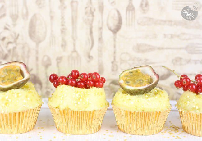 Cupcakes coco, citron vert et passion