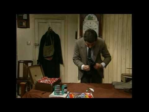 Quick Clip------Mr Bean - Packing for holiday---Mr Bean can't fit everything in his suitcase along with his tins of beans so comes up with ingenious ways of fitting things in. Classic clip from Mr Bean Rides Again.