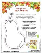 Make Your Own Fall Friend! A Sophie's Squash Storytime from Random House.