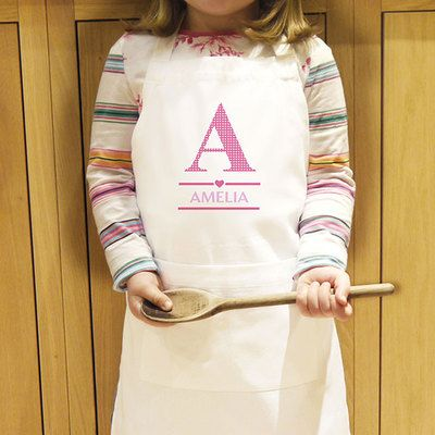 Check this out!! The Kitchen Gift Company have some great deals on Kitchen Gadgets & Gifts Personalised Girls Initial Kids Apron #kitchengiftco