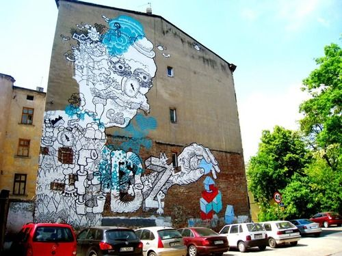 Gregor in LODZ - City Of Lodz In Poland http://www.brooklynstreetart.com