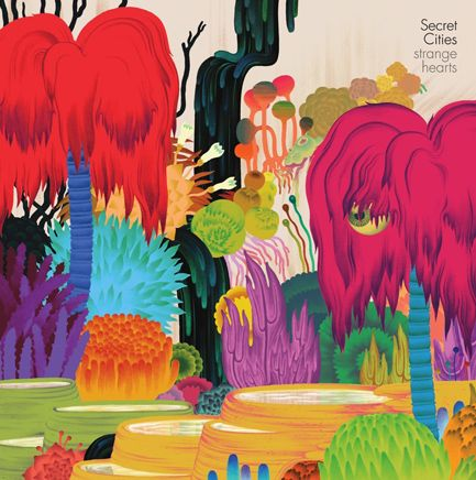 Artwork for Strange Hearts' album 'Secret Cities' by Micah Lidberg.