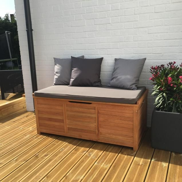 Caja Wooden Garden Cushions Storage