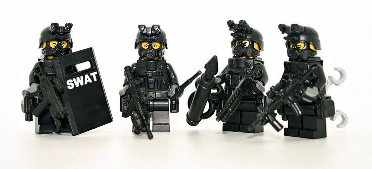 Swat 4 man Squad - Modern Brick Warfare Toys
