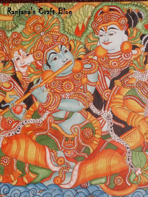 Kerala Mural-Paintings of Gods from Gods own country
