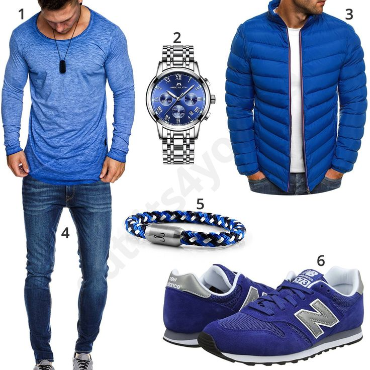 Blaues Herrenoutfit mit Megalith Chronograph (m0760) #outfit #style #herrenmode #männermode #fashion #menswear #herren #männer #mode #menstyle #mensfashion #menswear #inspiration #cloth #ootd #herrenoutfit #männeroutfit