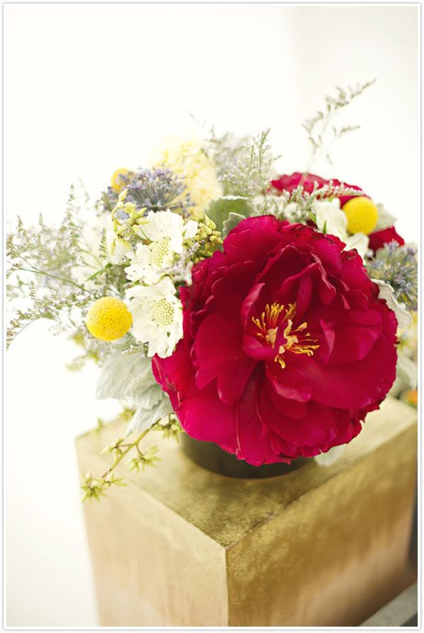 Peony arrangement by Michelle Edgemont and Camille Styles