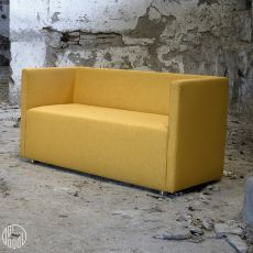 Bettie L - Divano moderno Domingo Salotti, 2 posti a sedere, disponibile in tessuto, pelle o similpelle, diversi colori