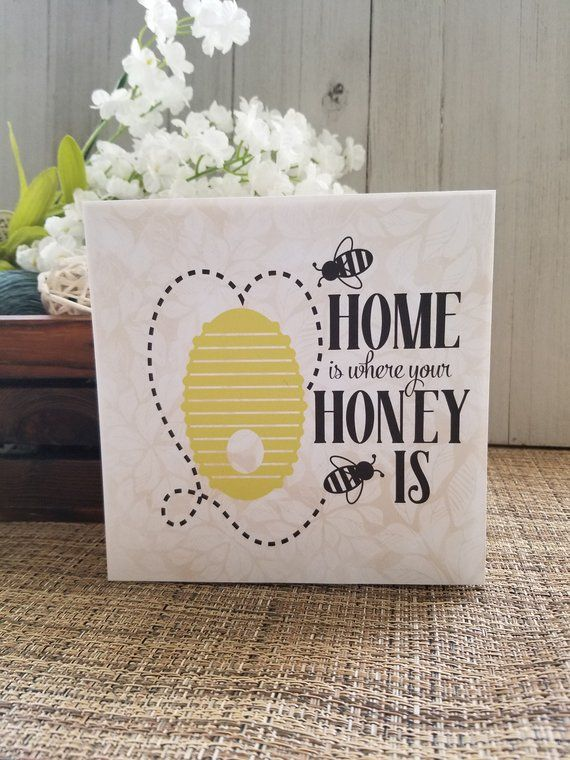 Bumble Bee Sign Bumble Bee Decor Honey Bee Decor Kitchen Etsy Honey Bee Decor Bee Decor Bee Sign