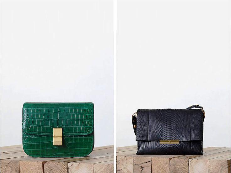 Celine Crocodile Emerald Green Box Bag Fall 2013 | Celine Bags ...