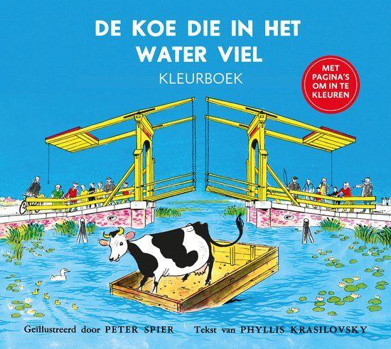 De koe die in het water viel kleurboek