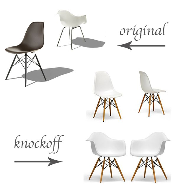 Original Vs Knockoff: Eames Molded Plastic Chairs   Life In Sketch