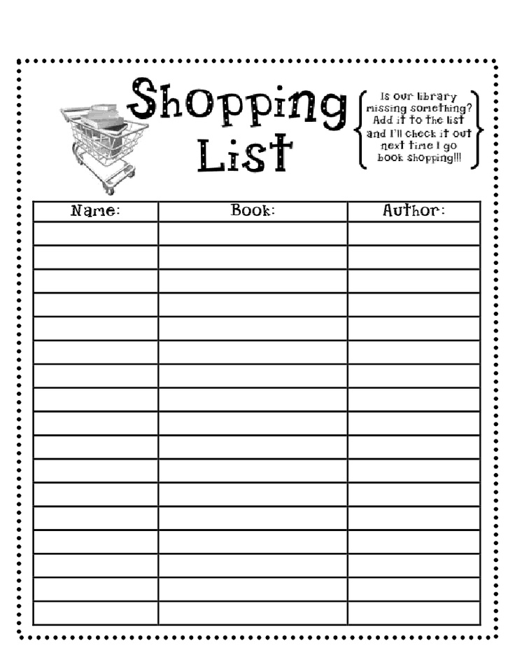 17 Best images about Printable Shopping Lists on Pinterest ...