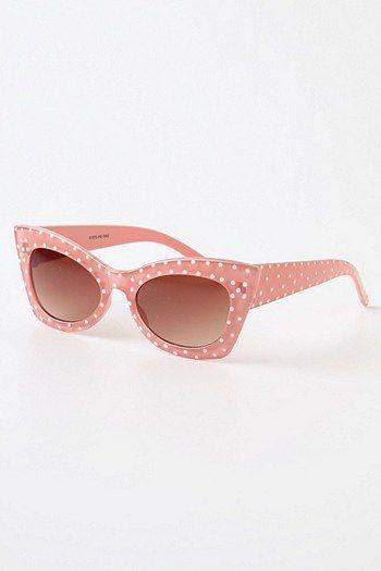 .: Dots Sunglasses, Pink Polka Dots, Vintage Sun Glasses, Cats Eyes Sunglasses, Cute Sun Glasses, Oakley Sunglasses, Rayban Sunglasses, Ray Bans Sunglasses, Pink Sunglasses
