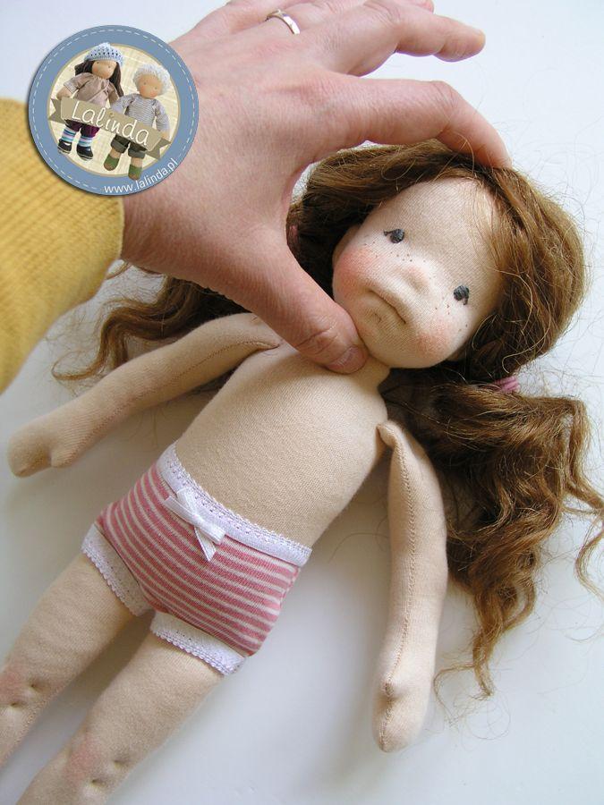 Alexandra - natural fiber art doll by Lalinda.pl