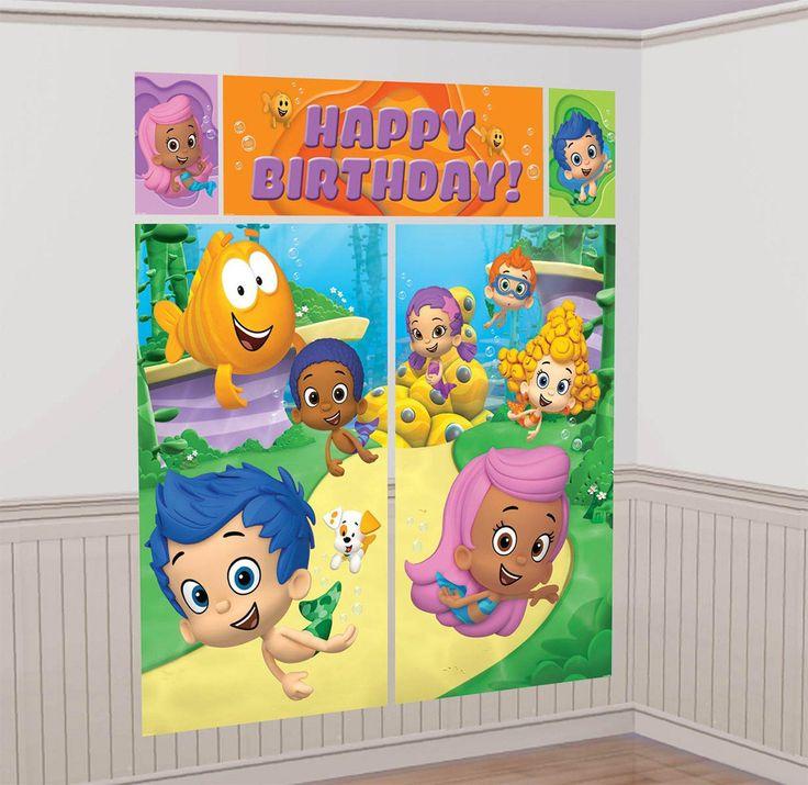 Bubble Guppies Wall Decorating Kit from BirthdayExpress.com