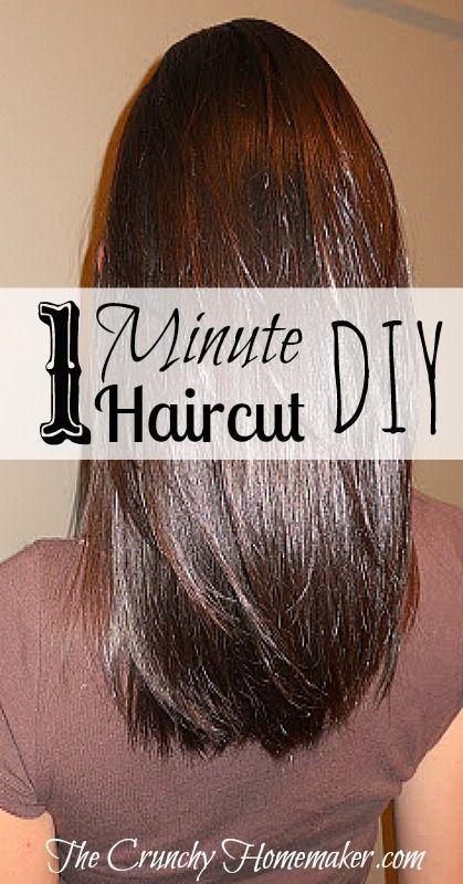 One Minute Haircut  DIY  Layered  Haircut  All my life I ve