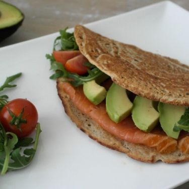 Boekweitwrap met gerookte zalm & avocado Vivonline Viv Online