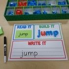 "This is a GREAT center to have students practicing their sight words! Use the ""Read It, Build It, Write It"" work mat along with some or all of the..."