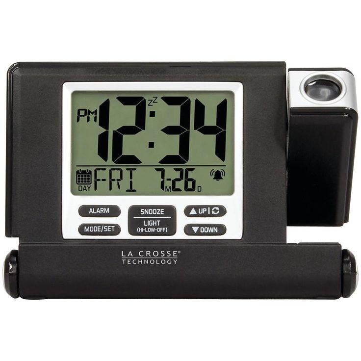 LA CROSSE TECHNOLOGY 616-1908-INT Travel Projection Alarm Clock
