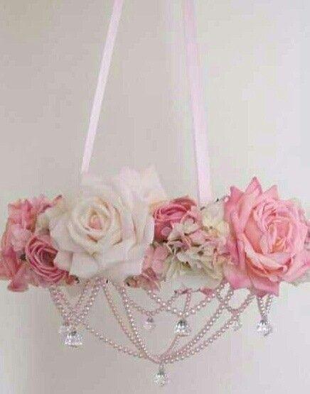 Rose beaded chandiler.