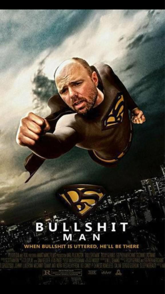 "Karl Pilkington is ""Bullshit Man"". Lmao for sophieeee"