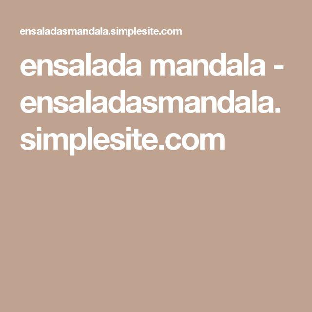 ensalada mandala - ensaladasmandala.simplesite.com
