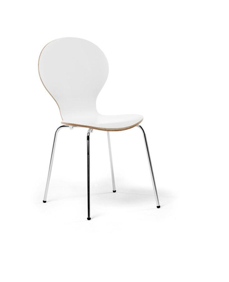 Caféstol/skalstol i bok, vitt och svart - Fixbordet