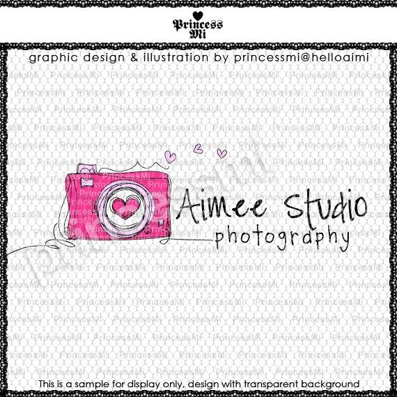 Custom Premade Logo Design - sketch hand drawn cute  digital camera logo photography business logo boutique by princess mi logo1231-6. $45.00, via Etsy.