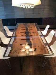 1000 ideas about resin table on pinterest table lamps - Recouvrir une table de zinc ...
