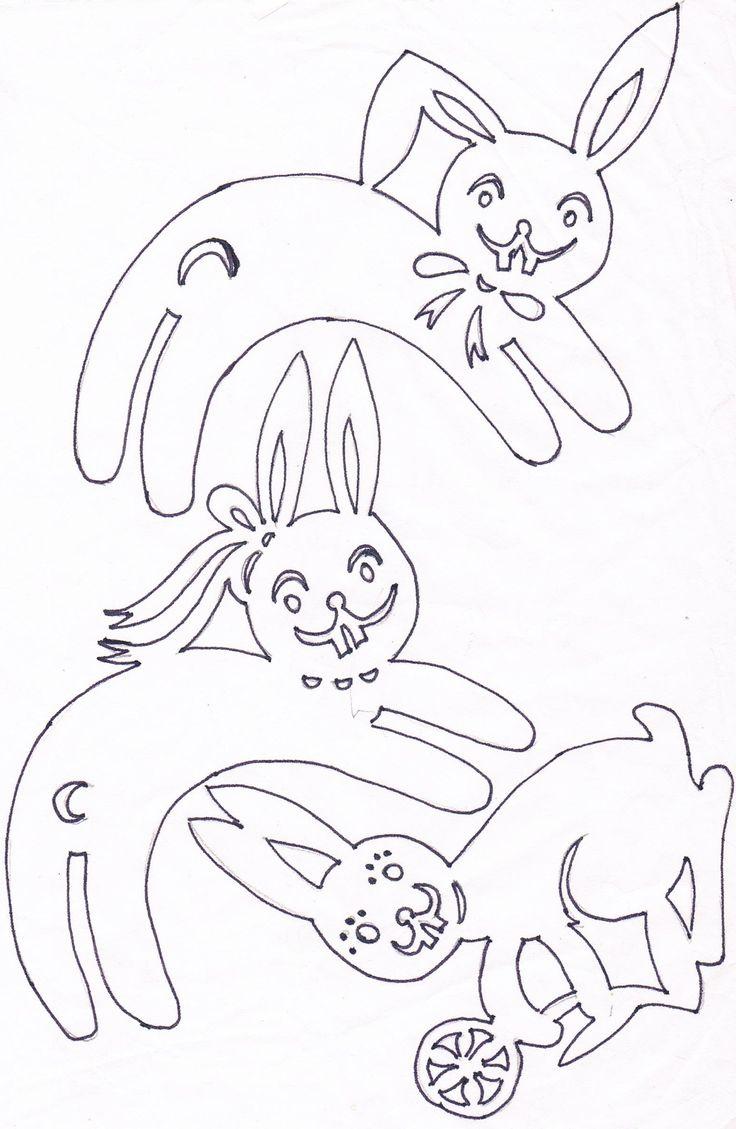 Zajíček nad vejdunek na špejli