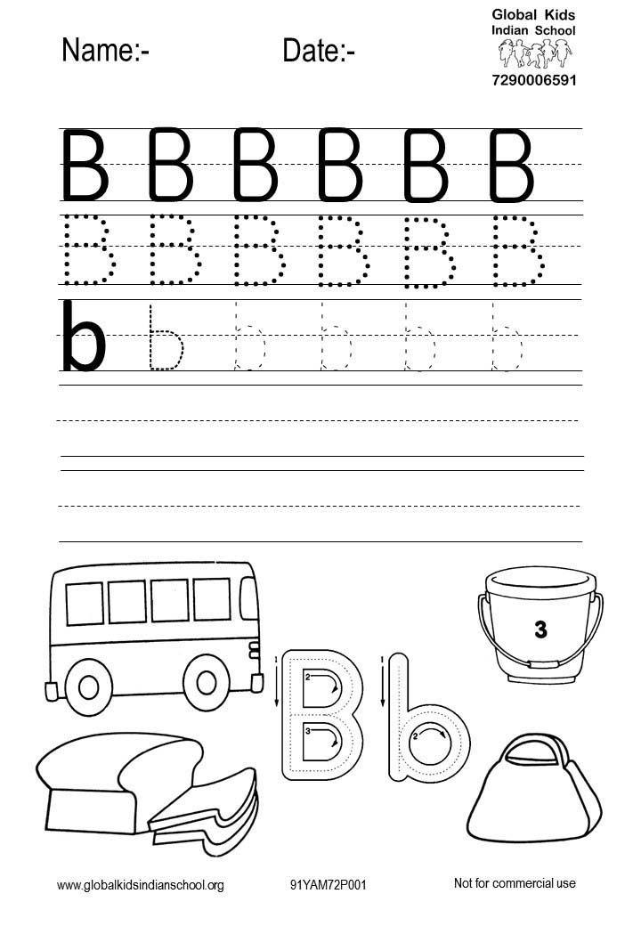 Preschool Printable Worksheets Kindergarten Worksheets Printable Letter B Letter B Worksheets