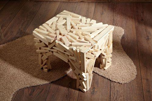 Tavolino di listelli - Riciclo e riuso - IDEE CREATIVE. Brico, Fai da te.