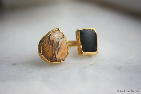 Mahfiruz Agate & Agate Stone Hancrafted 22k Gold by TurkuazBazaar, $60.00