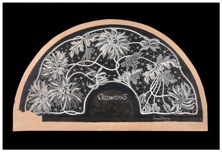 #crisantems, #crisantemos, #chrysanthemums, #art nouveau, #Arenys de Mar, #fan