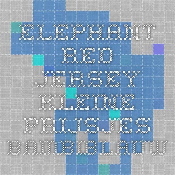 elephant red jersey - KLEINE PRIJSJES - Bambiblauw