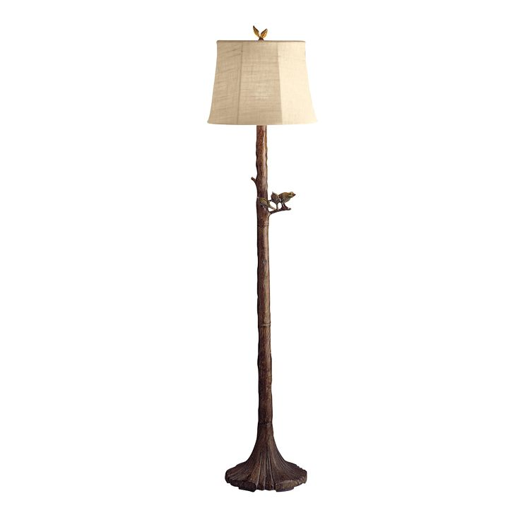 Kichler Lighting 74165 Portable Outdoor Floor Lamp, Brown Bark Finish With  Oyster Textured Sunbrella Fabric Removable Shade, Outdoor Lighting, U0026  Hardware, ...