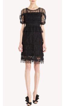 Nina Ricci Lace Peplum Waist Dress