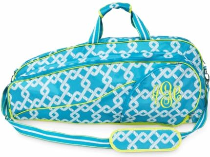 Coastal Link Monogrammed Tennis Double Tennis Bag - GirlyTwirly.com