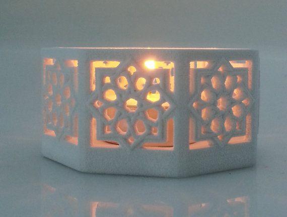 My Small Islamic Star Knot Lantern.   Etsy listing at https://www.etsy.com/listing/189377168/islamic-star-lantern-original-tee-light