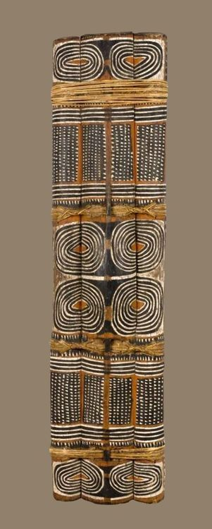 This is a great piece of ethnographic art, I would like more information about it  Shield, Papua New Guinea