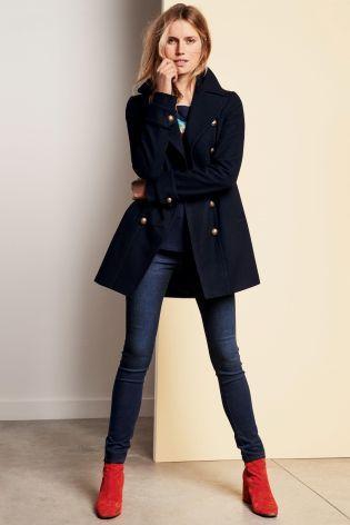 Cabanjacke im Military-Stil, marineblau heute online kaufen bei Next: Deutschland
