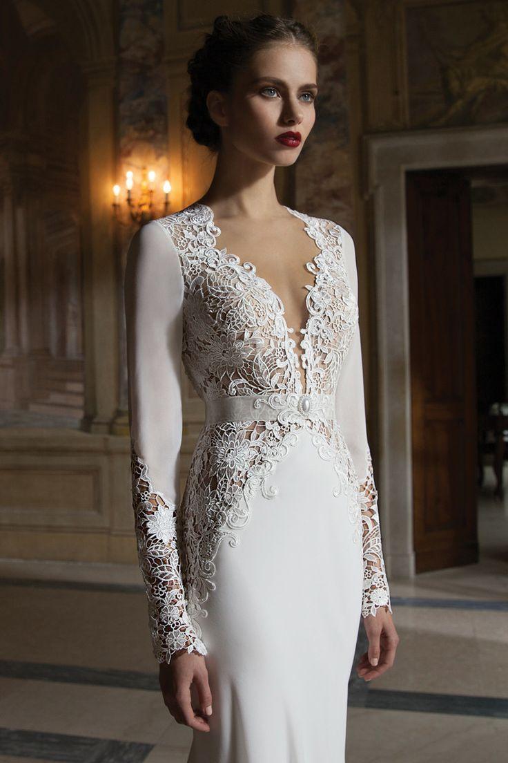 Winter wedding dresses plus size   best images about gown details on Pinterest  Party gowns Lace