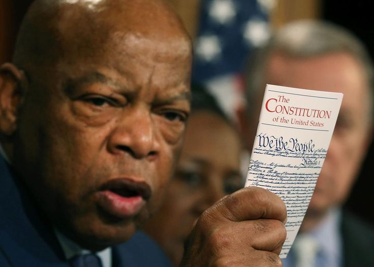 Rep. John Lewis Leads Democratic Sit-In on House Floor to Demand a Vote on New Gun Laws - June 22, 1026 - Update, 5:30 p.m.: Dozens of Democrats continued their sit-in on the House floor on Wednesday evening, roughly six hours after they entered the lower c ...