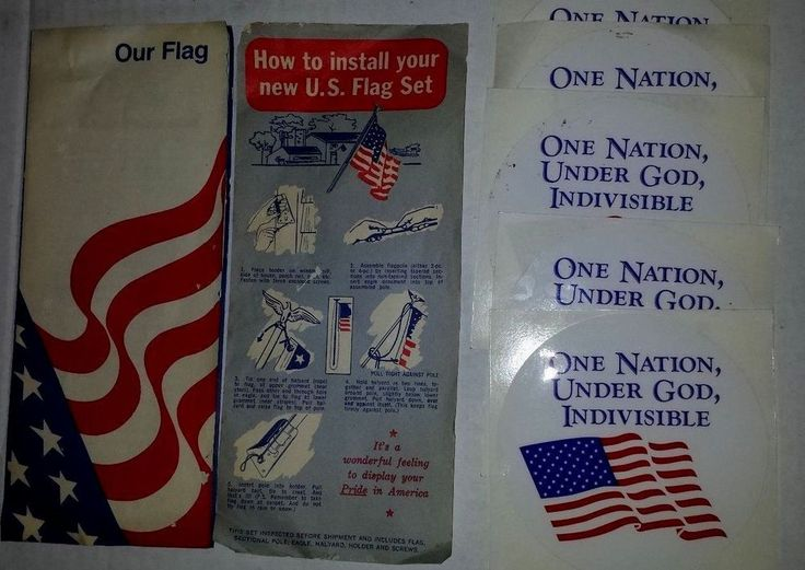 VINTAGE 1978  OUR FLAG RULES AND CUSTOMS, INSTALLING U.S. FLAG & 5 USA STICKERS