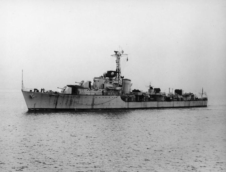 HMS Cromwell, a C class Destroyer built by Scotts at Greenock, commissioned on 06/08/46 she was one of four C class destroyers to be sold to Norway in the same year. commissioned into the Royal Norweigan Navy as HNoMS Bergen, in which she served until scrapped in '67