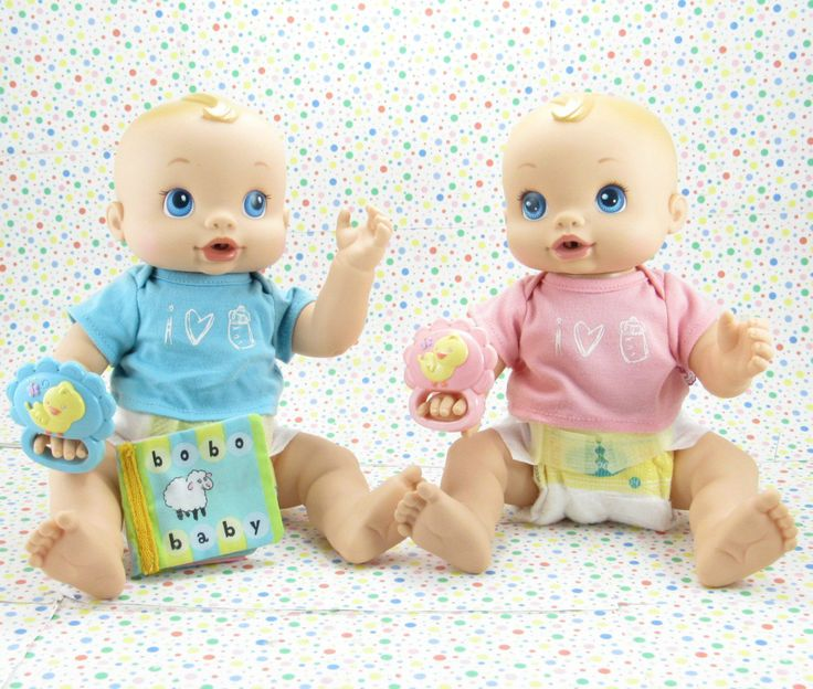Hasbro Baby Alive Wets and Wiggles Twins 2006.  Baby Alive Boy For Sale